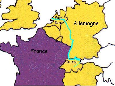 Le rhin comme le rhône prend sa source en suisse avant de traverser l